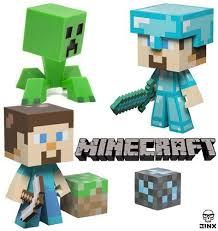 diamond steve diamond steve regular steve creeper minecraft figure set 6 inch
