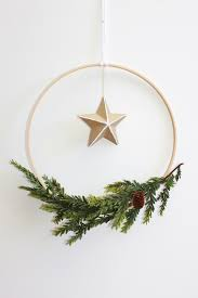 Holiday Wreath Simple Scandinavian Holiday Wreath Handmade By Kelly