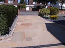 natural stone paver driveway formby merseyside abel landscaping
