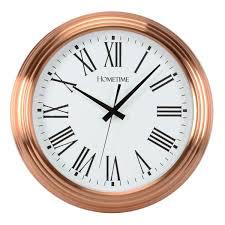 amazing wall clocks large copper wall clock round copper metal clock 42cm diameter