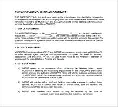 agent contract template 9 download free documents in pdf word