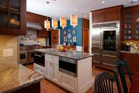 wood kitchen cabinets with white island two toned kitchen cabinets morris black designs