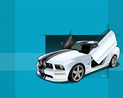 tiffany blue mustang gt wallpaper
