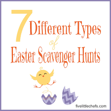 easter scavenger hunt 7 different types of easter scavenger hunts five little chefs
