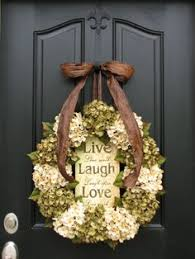 spring wreaths for front door year round hydrangea wreath for front door by flowenka on etsy
