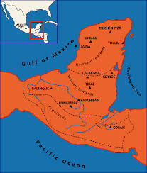 mayan empire map civilization ca mystery of the peoples geography and