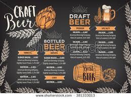 beer restaurant brochure vector alcohol menu stock vector