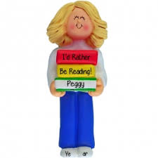custom reading ornaments gifts personalized