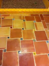 saltillo floor tile in the bathroom and shower home decor