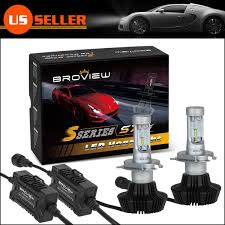 amazon com broview s7 h4 9003 high power led dual beam headlight