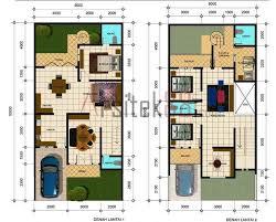 layout ruangan rumah minimalis denah rumah sederhana 4 kamar tidur foto atau gambar berjudul denah