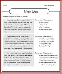 main idea worksheets for first grade the best and most