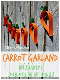 Handmade Easter Decorations For The Home by Carrot Garland Easy Diy Spring Craft
