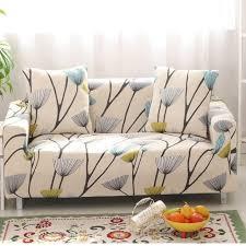 housse canapé pissenlit impression stretch housse de canapé élastique canapé