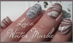 arcadianailart lace water marble nails