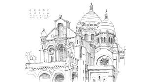 around the world in black and white pen and ink travel sketches