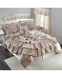 Ruffled Comforter Don U0027t Miss This Bargain Romance Bejeweled Ruffled Queen Size 5