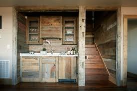 glass basement doors rustic basement bar kitchen rustic with reclaimed wood glass