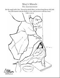 birth of jesus coloring page the story of mary the announcement coloring page audio bible