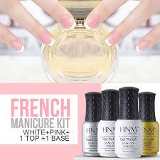 aliexpress com buy hnm 8ml gel nail polish french manicure pink