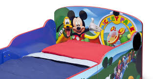 Mickey Mouse Bedroom Furniture by Amazon Com Delta Children Interactive Wood Toddler Bed Disney