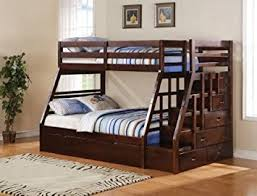 Plans For Bunk Bed With Trundle by Amazon Com Acme 37015 Jason Twin Full Bunk Bed With Storage