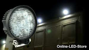 ecco led offroad lights 27w led work l for utility construction offroad demo footages