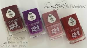 affordable swatches of la nail color craze polish dollar tree