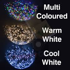 snowtime indoor outdoor led christmas tree lights in white blue