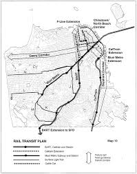 San Francisco Transportation Map by San Francisco General Plan Transportation