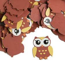 small brown finished baby owl wood cutouts wood cutouts