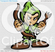 archer cartoon cartoon of a tough archer holding a bow and arrow royalty free