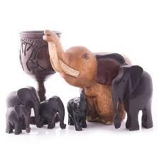 carved wood elephant figurines ebth
