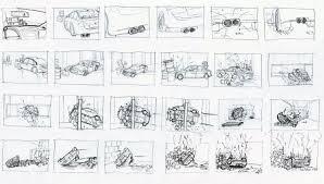 car crash storyboard draft animations in progress