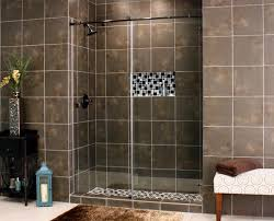 skyline frameless shower glass with bronze hardware available at