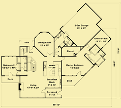 vacation home floor plans vacation home plans with 2 bedrooms fantastic rear views