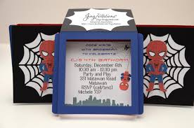spiderman party jingvitations