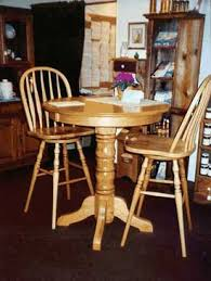 Oak Bistro Table Woodloft Locally Amish Crafted Tables