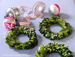 diy decor trio of boxwood wreaths town country living