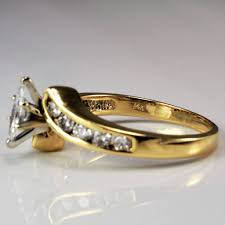 marquise diamond engagement rings marquise diamond bypass engagement ring 0 84 ctw sz 9 u2013 100 ways