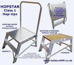 Standard Handrail Height Uk Hopstar Class 1 Hop Ups From Ladders999 Small Folding Work