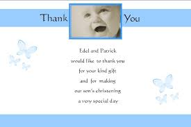 baptism thank you wording personalised boy christening thank you cards design 3