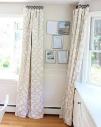 How To Wash Lace Curtains Stenciled Drop Cloth Curtain Tutorial Drop Cloth Curtains