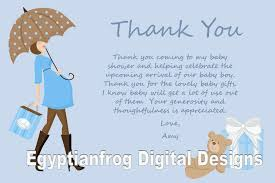 baby shower thank you notes trendy thank you notes baby shower wording babysof blue colored