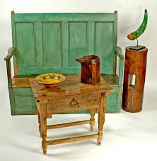 painted settle bench colonial arts