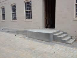 concrete handicap ramp and steps otg on the go custom concrete