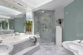 Cool Blue Master Bathroom Designs And Ideas Pictures Home - White cabinets master bathroom