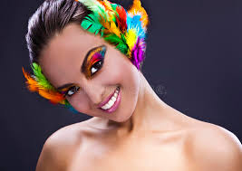 feathers in hair woman with feathers in hair stock image image 34593771