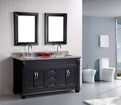 design element hudson double 61 inch transitional bathroom