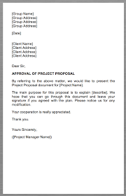project proposal cover letter group name group address group